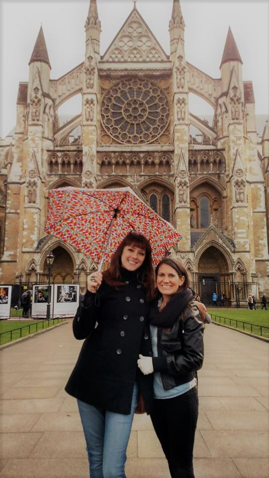 Dr. Corey Wrenn and Dr. Cheryl Abbate at Westminster Abbey in London